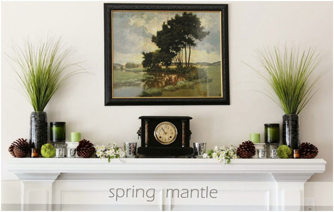 This mantel decoration seems overly symmetrical